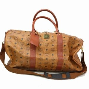 MCM Visetos Boston Duffle with Strap 870889